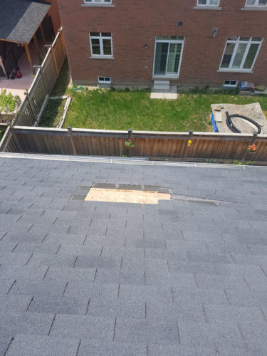 Shingles removed